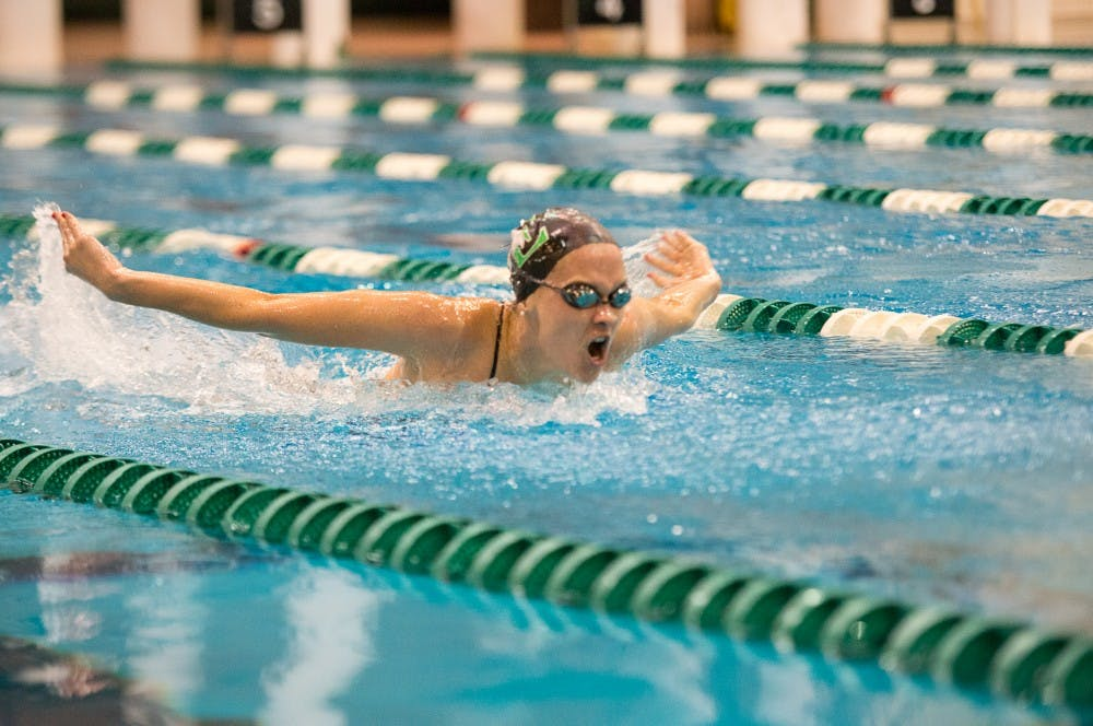 Women's swim and dive team sinks Bowling Green
