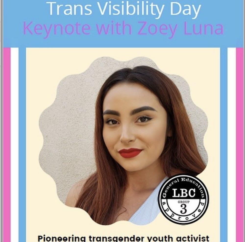 Transgender youth activist and actress Zoey Luna speaks at keynote address on Transgender Day of Visibility