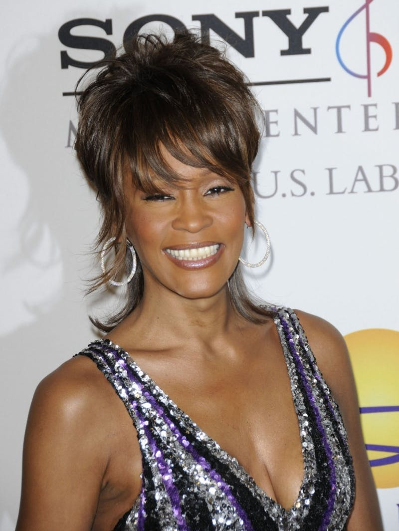 Whitney Houston arrived at the Clive Davis Pre-Grammy Party held at the Beverly Hilton Hotel Beverly Hills, California, February 9, 2008. (Fitzroy Barrett/Landov/MCT)