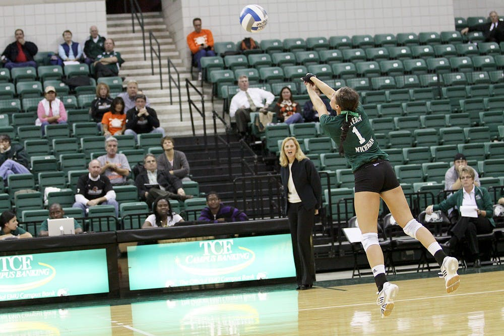 EMU volleyball moves on in MAC Tournament
