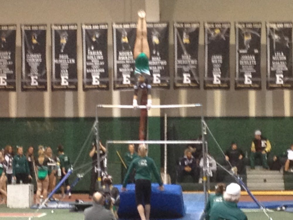 Close defeat for Eagles gymnastics vs. Ball State