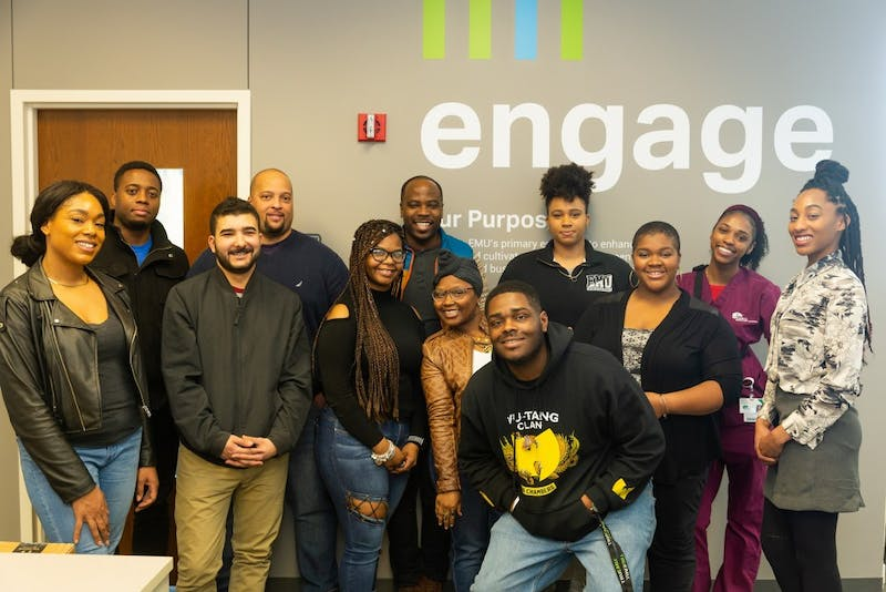 12 students were apart of the initial cohort for the Eagle Engage Corps program. The program allows former students to return to the university and have up to $6,000 in debt forgiven after completing community service. Photo courtesy of Eagle Engage Corps.