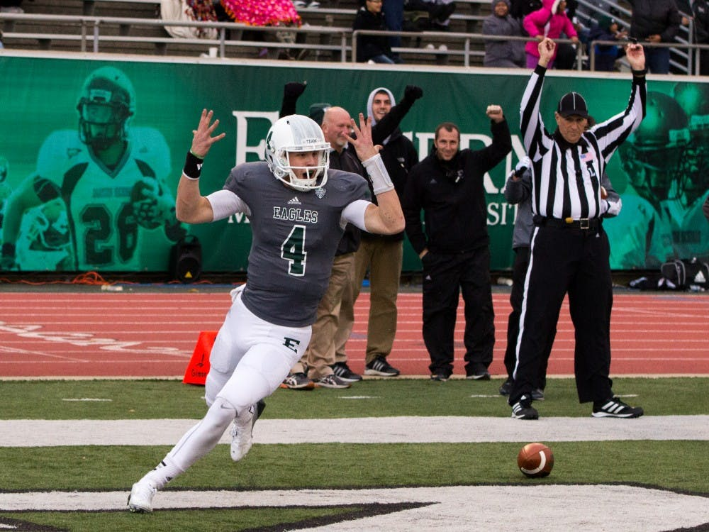 EMU football team looks to regroup for final two games