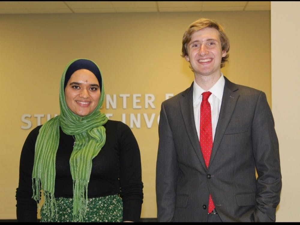 Smith, Abuzir Talk Food Security, Improving Life for EMU Students