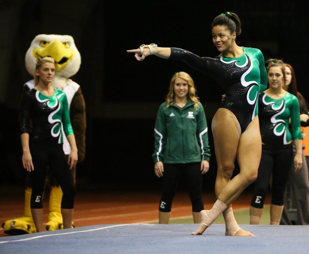 EMU gymnastics loses to Central Michigan