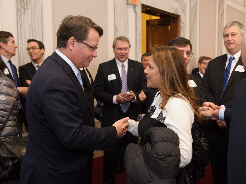 Sen. Gary Peters at his swearing-in reception. Courtesy of peters.senate.gov.