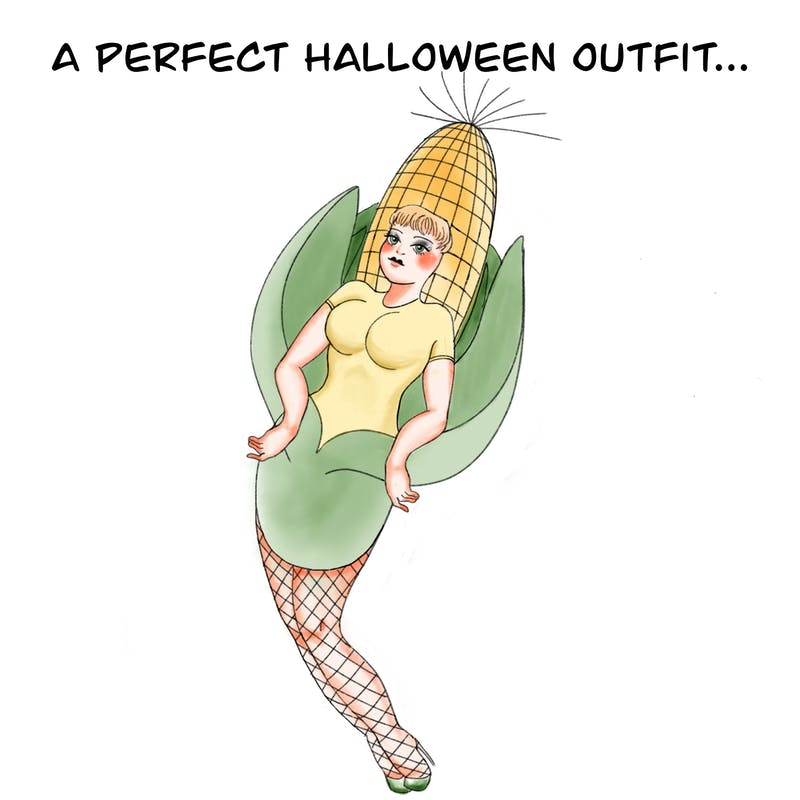 "The best Halloween costumes are always the ""corniest""!"