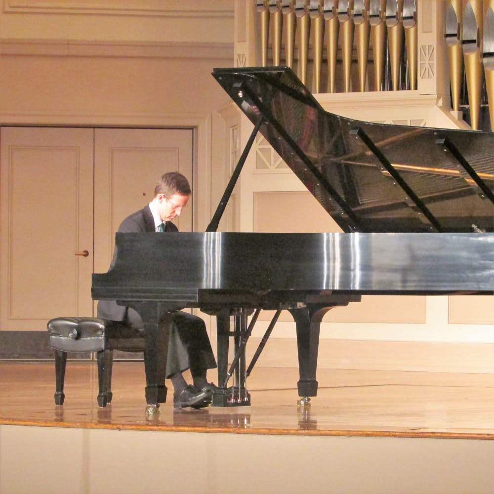 EMU piano professor performs Bach-Brahms