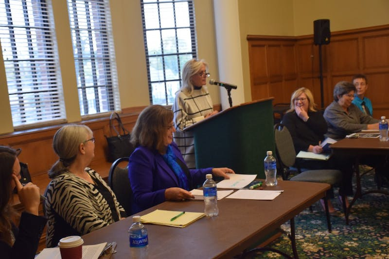 Gender in the 2016 Elections panel hosted at Eastern Michigan University on Oct.27, 2016.