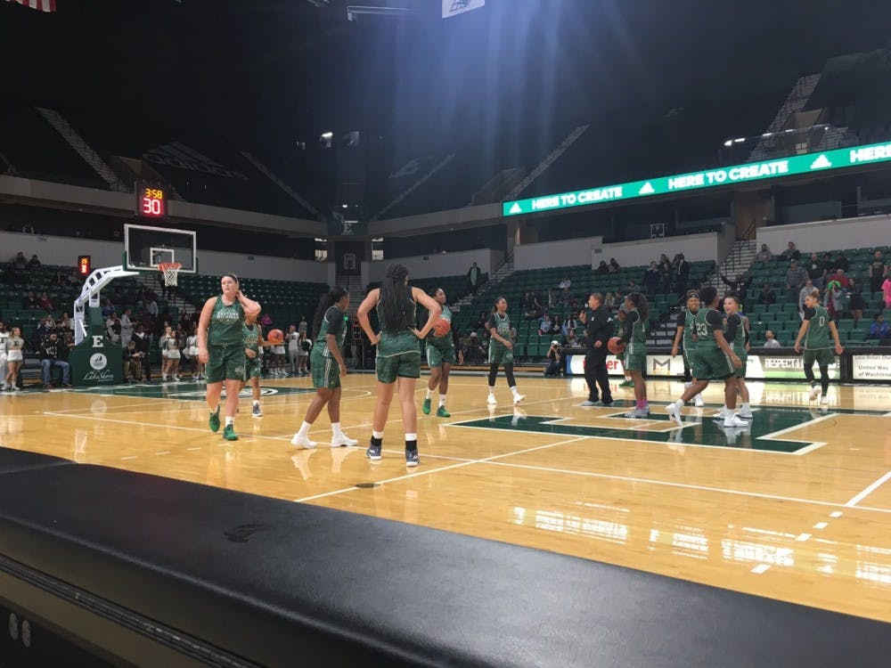 Eastern Michigan University's women's basketball season began Wednesday, Nov. 1 with a 70-57 exhibition win against Hillsdale College. For the 2017-18 squad, there's a lot more to prove after a rough season last year had the Lady Eagles finishing with a 6-25 record in head coach Fred Castro's inaugural season.