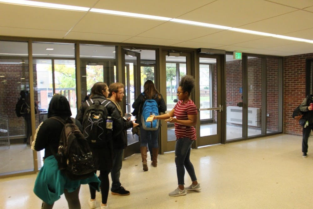 Tamia Barnes working with Michigan Student Power Network