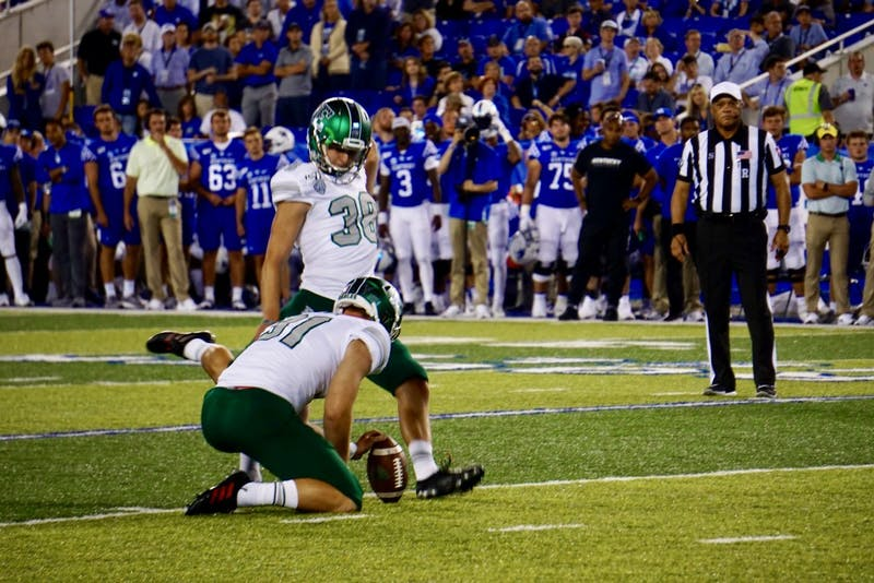 Chad Ryland makes 24-yard field goal on Sept. 7, 2019 at Kroger Field in Lexington.