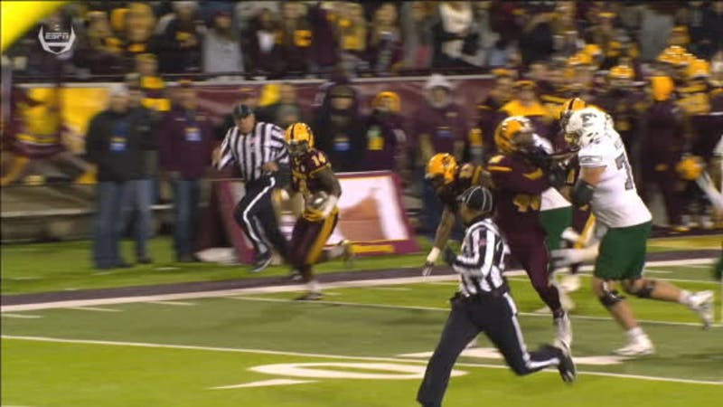 Central Michigan Safety Josh Cox returns an INT. The Eagles lost to Central Michigan 42-30 Nov. 8 at Kelly/Shorts Stadium