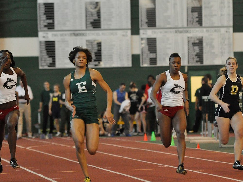 EMU women's track and field performed well during first meet on Jan. 10, 2010.