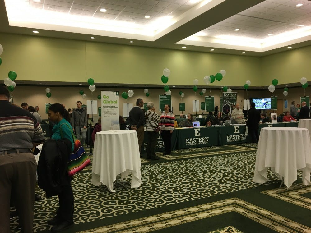 Eastern Michigan University offered first-year, high school, transfer, and graduate students a glimpse of what Eastern Michigan University has to offer toward their academic careers and what life would be like as an Eagle at the Explore Eastern Open House.