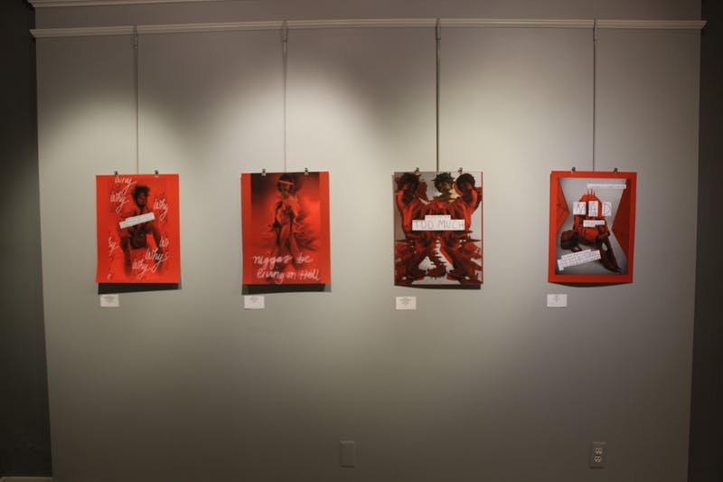 """The theme of """"Insecurity"""" in Ypsilanti's community was brought to life in the free art exhibit at The Riverside Arts Center, which from Jan. 10 to Jan. 31. The idea for the gallery was thought up the Ypsi Gathering Space. The exhibit aimed to demonstrate the vulnerable side and thoughts of people in the community."""