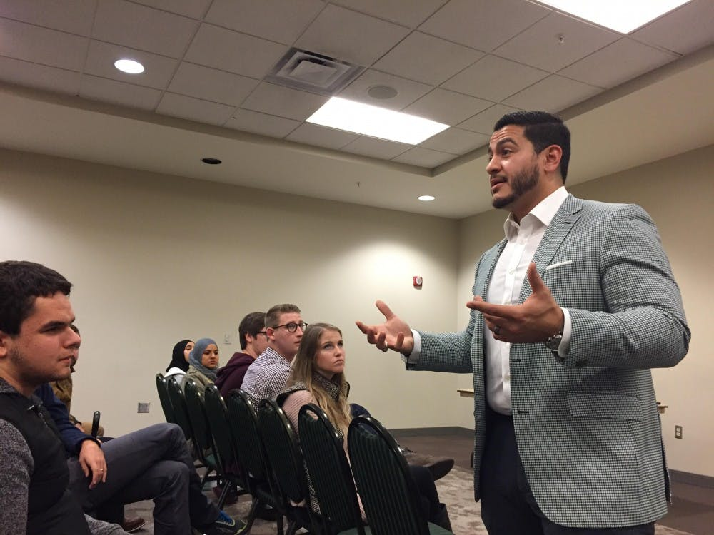 Abdul El-Sayed visits EMU for town hall meeting