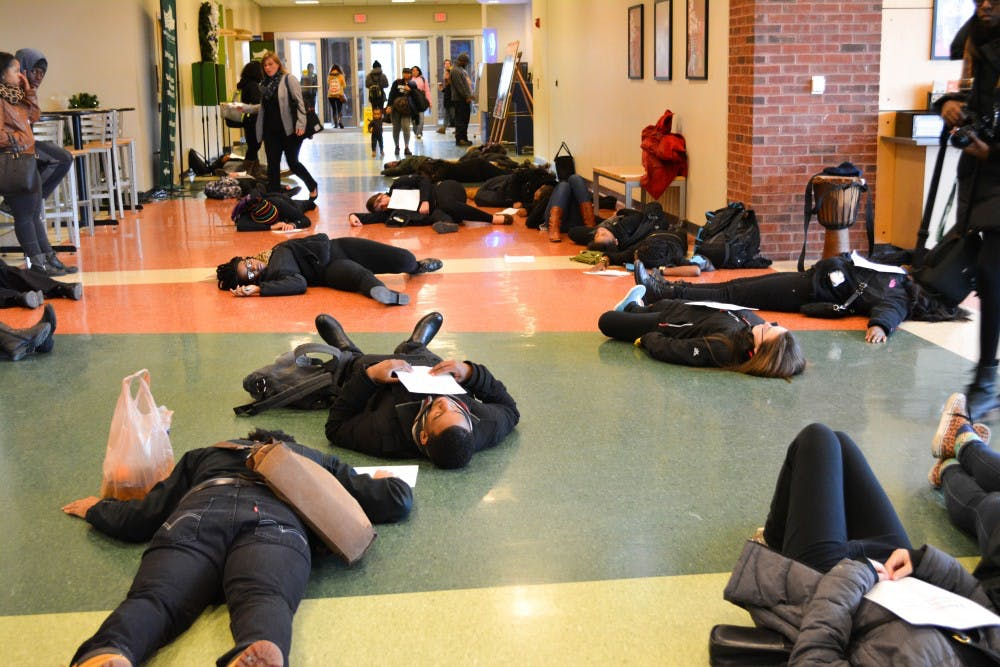 Students protest police violence in wake of Ferguson