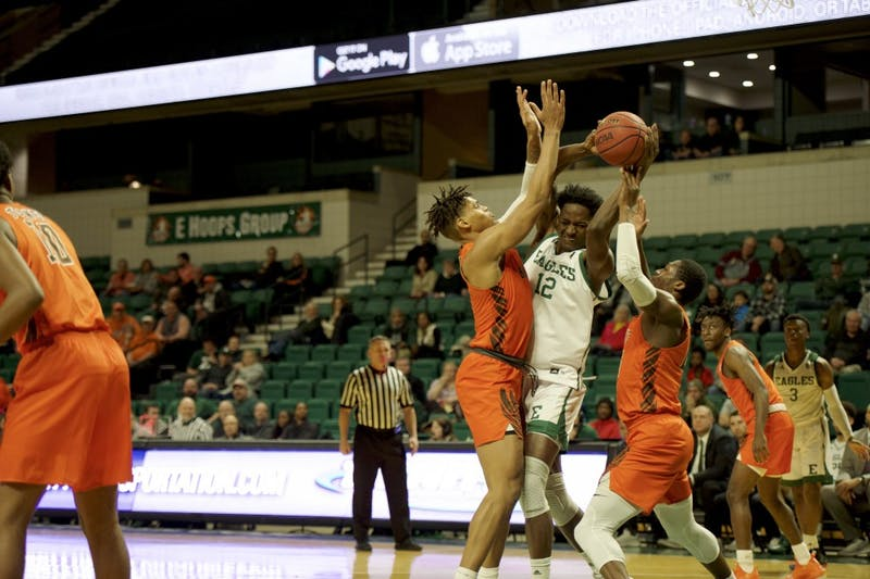 Toure goes for the basket during the game against BGSU at the Convocation Center in Ypsilanti on Jan. 22.