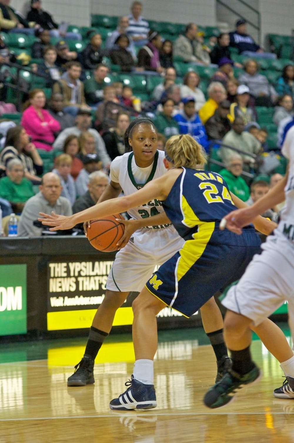 Women defeat UofM, James sets EMU record