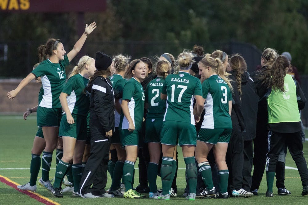 Eagles head to double-overtime, draw Central Michigan 0-0