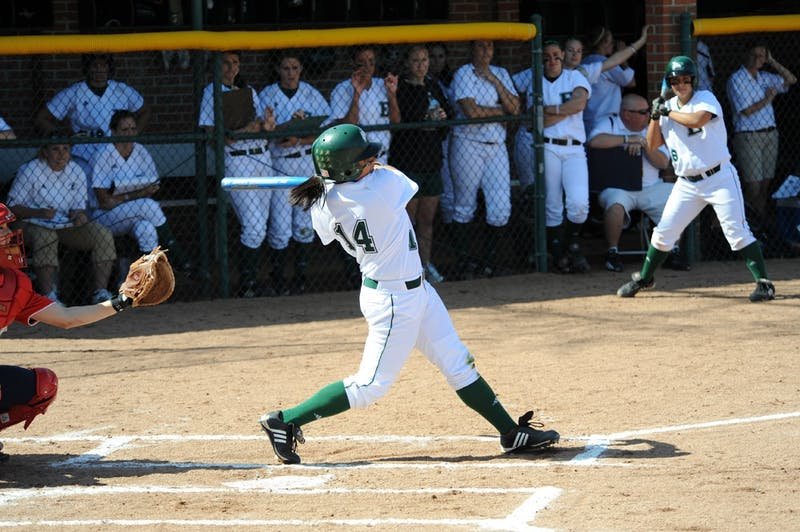 Jenny's skills at bat leads EMU softball in the quest for MAC title.