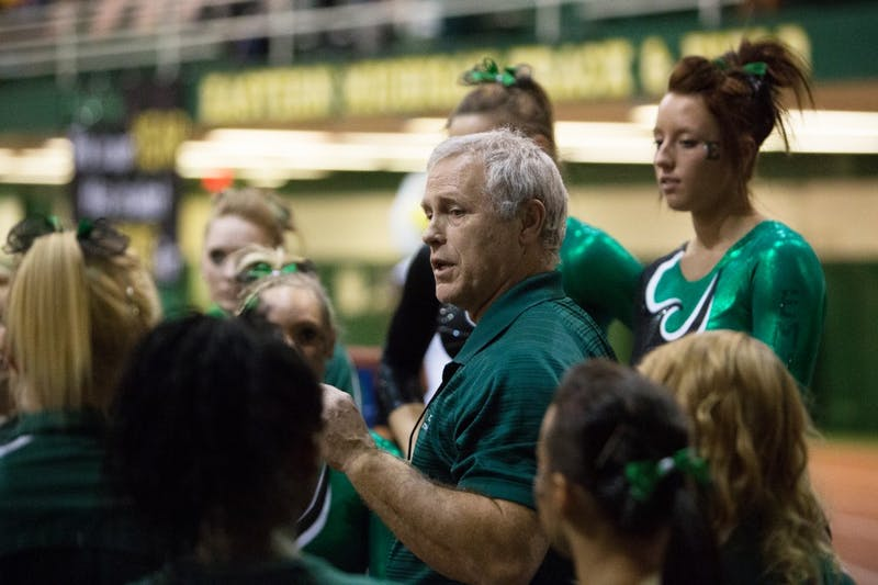 Steve Wilce (above) compiled a 228-222 record over 32 seasons and is the winningest coach in EMU gymnastics history.