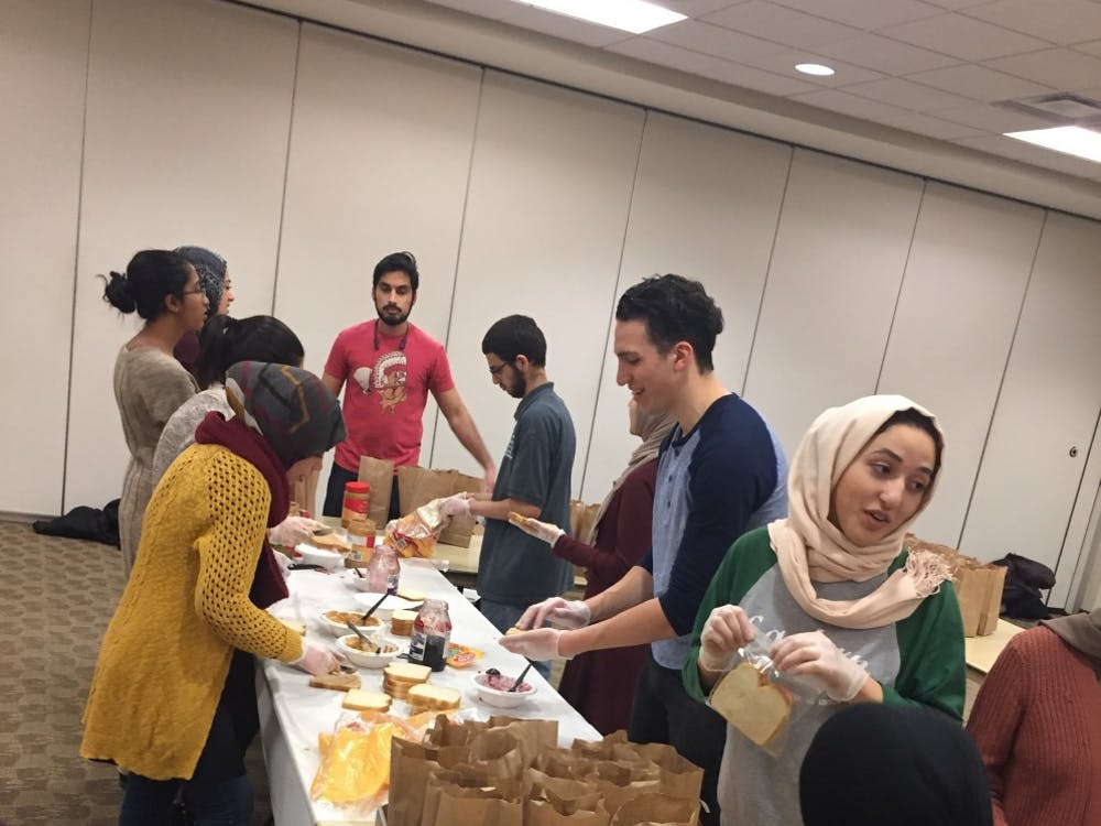 Eastern MichiganUnited Muslim Relief hosted an event where they made meal bags to be distributed to the homeless, Feb. 3.