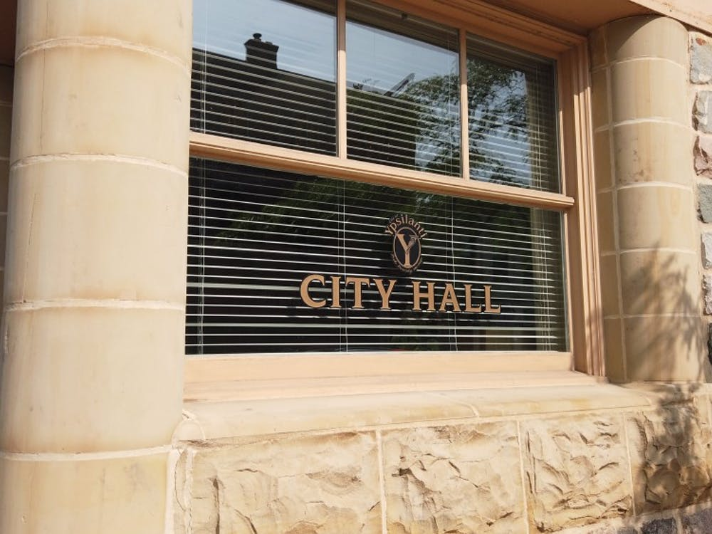 The outside of Ypsilanti City Hall on July 9.