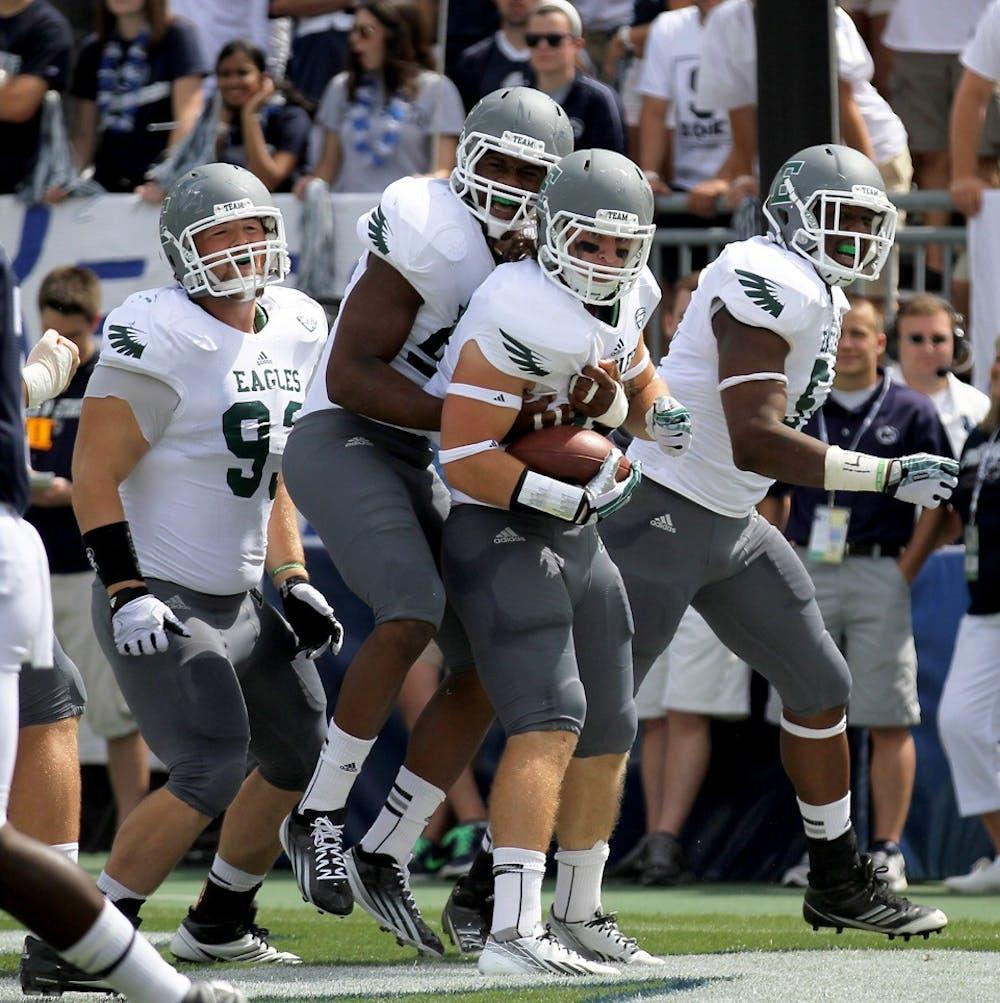 EMU football falls to Penn State, 45-7
