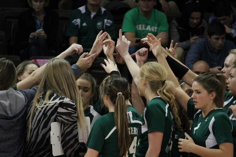 Eastern Michigan was defeated in the first round of the MAC Tournament by Western Michigan in five sets on Thursday.