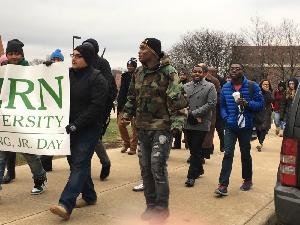 EMU kicks off MLK Day celebrations with commemorative march