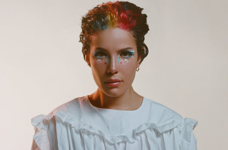 Photo of American singer-songwriter Halsey. Photo by Aidan Cullen on EMI Music.