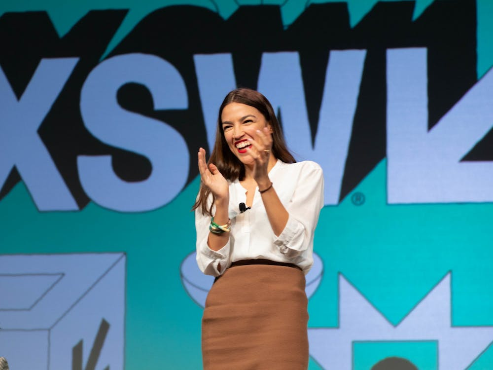 Alexandria Ocasio-Cortez speaks at the 2019 SXSW Conference in Austin, TX. Photo by Ståle Grut of NRKbeta on Flickr.