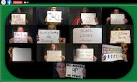 """A screenshot from the """"'We the People Speak: No Justice, No Peace' Presented by the EMU CloseUp Theatre Troupe"""" video found on EMU's YouTube channel."""