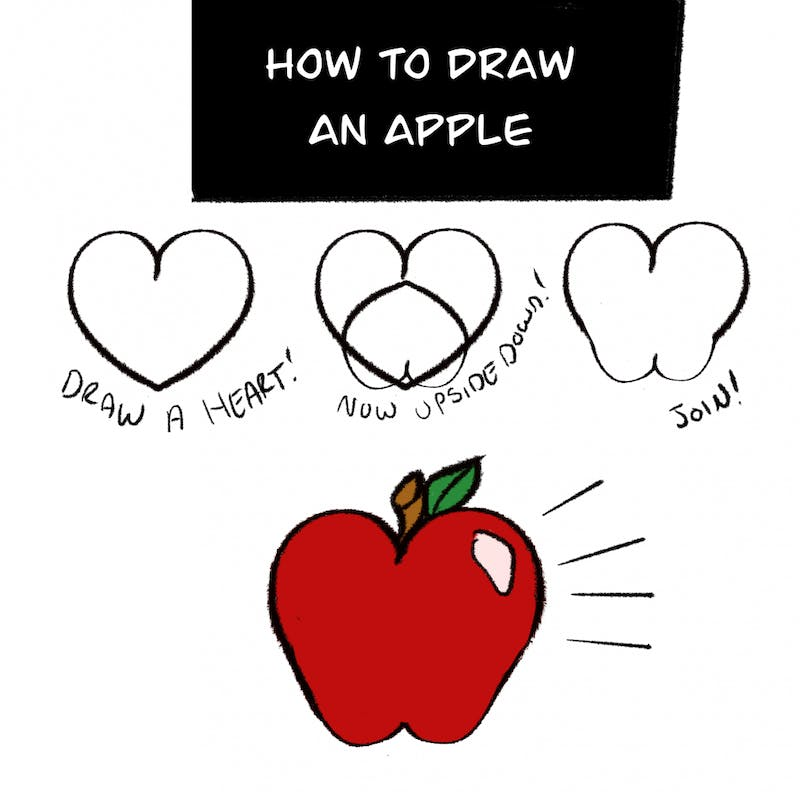 An apple a day gets your drawing muscles on their way!