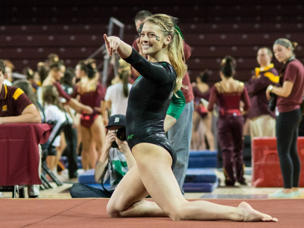 Chantelle Loehner poses for the judges on Jan. 17 at McGuirk Arena.