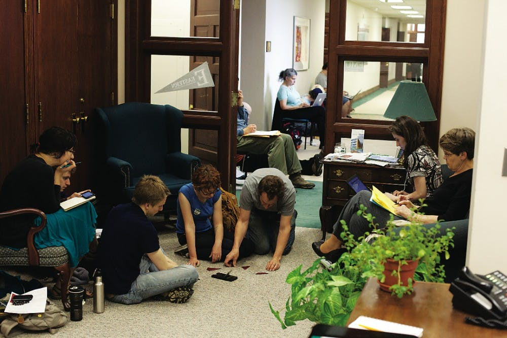 Lecturers, students protest with sit-in at Martin's office