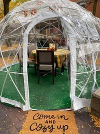 Outdoor igloo located at Bobcat Bonnie's in downtown Ypsilanti, 200 W. Michigan Ave. (Photo courtesy of Aaron Orr).