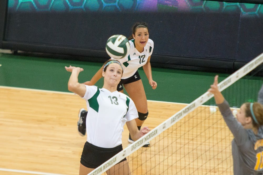 Eagles volleyball triumphs over Toledo, WMU