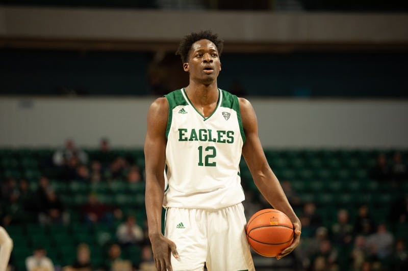 Boubacar Toure prepares for free throw versus Miami (OH) on Feb. 2 at the Convocation Center.