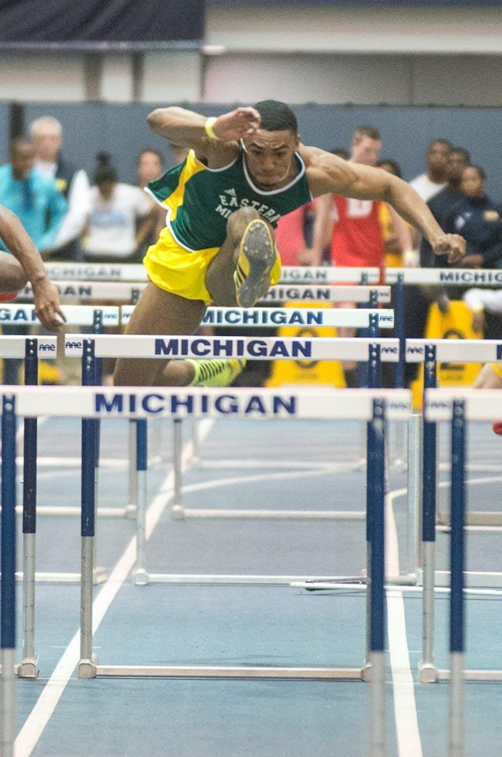 Men's track team competes at Michigan