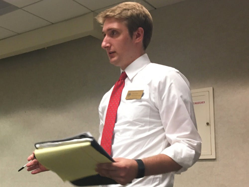 Student Government President Ethan Smith made the Student Emergency Fund his priority as a trustee for the EMU Foundation.