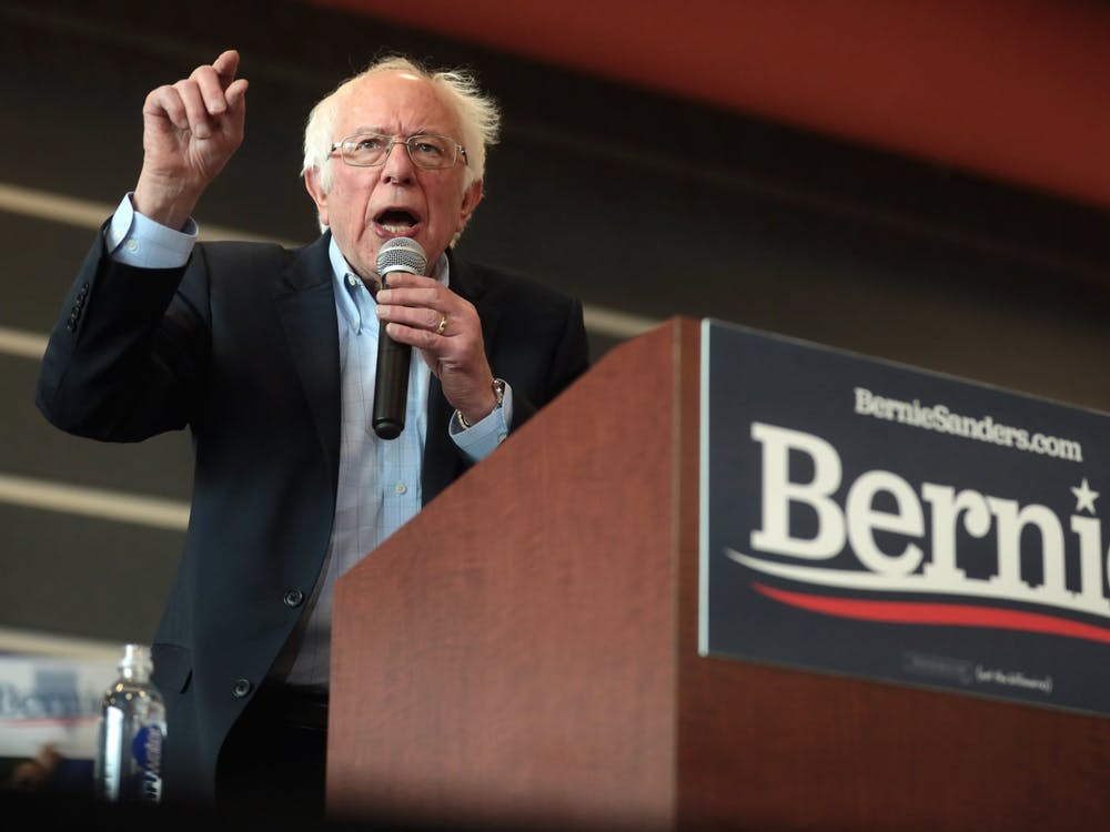Bernie Sanders speaks at a campaign rally in Las Vegas, Nevada. Photo by Gage Skidmore on flickr.