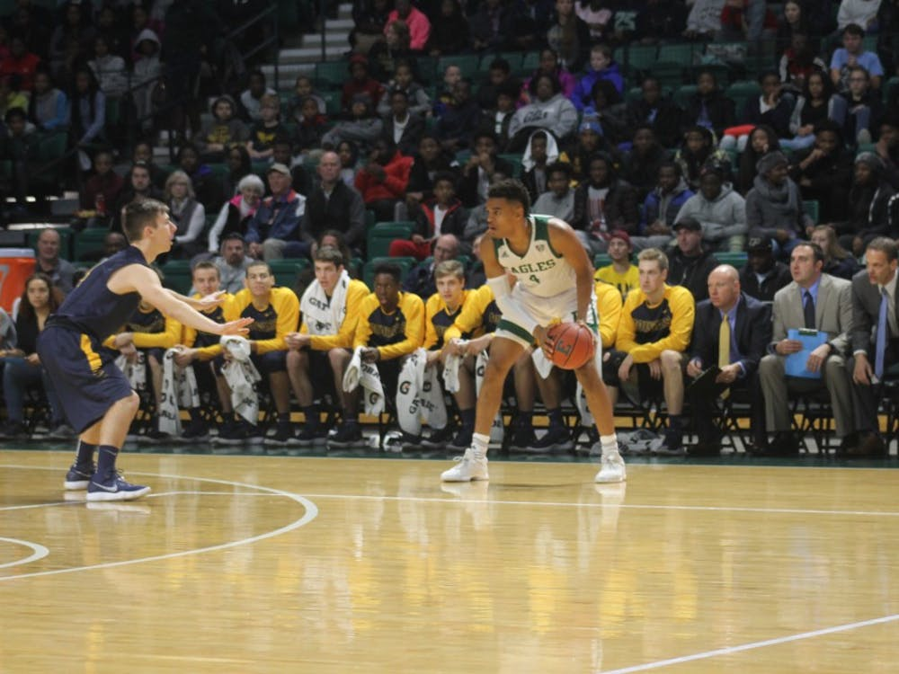 Eastern Michigan's offense picked up where it left off against Spring Arbor, scoring six of the first eight points in their match up against U of M-D forcing the visiting Wolverines into an early timeout. Eastern's defense relied heavily on a full court press off the inbound and that defensive pressure carried over into their match up against U of M-D. Center James Thompson IV found great success early in the first half down low securing six of the Eagles first 12 at the basket.