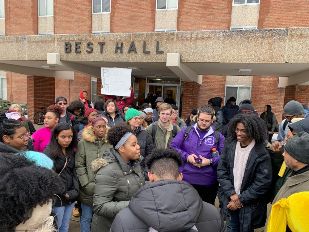 Students Rally For Action Following Racist Display in Best Hall