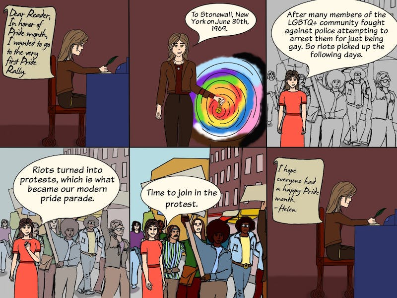 Helen has gone back in time to see the first ever Pride Parade at Stonewall, New York! Happy Pride month everybody!