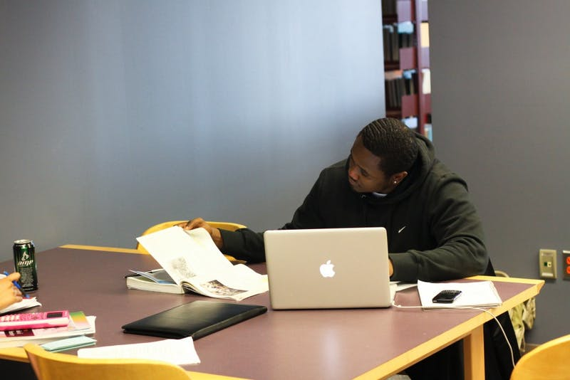 EMU student Nathaniel Winston, a political science major, studies at Halle Library. A recent study has shown that high school seniors have better critical reasoning skills than college sophomores. However, most EMU students and faculty disagree.