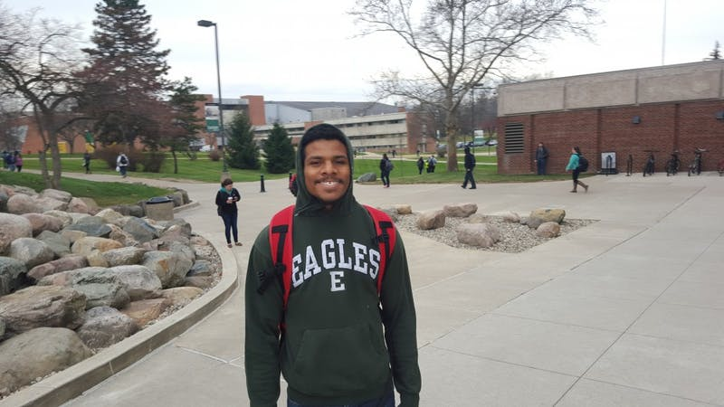 """Mathew Williams, senior, biology""""[I] study sections of my course work through the week."""""""