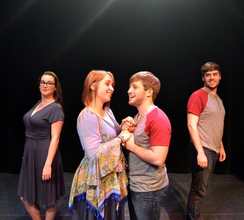EMU student performers Kristin McSweeney,Kayla Younkin,Brendan Kelly,and Matt Wallace.